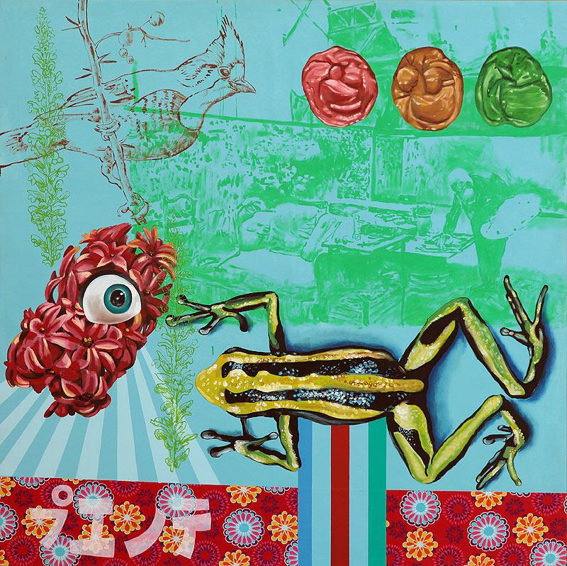 Jesús Pizarro Cañamero - Mixta sobre lienzo - 150x150 cm