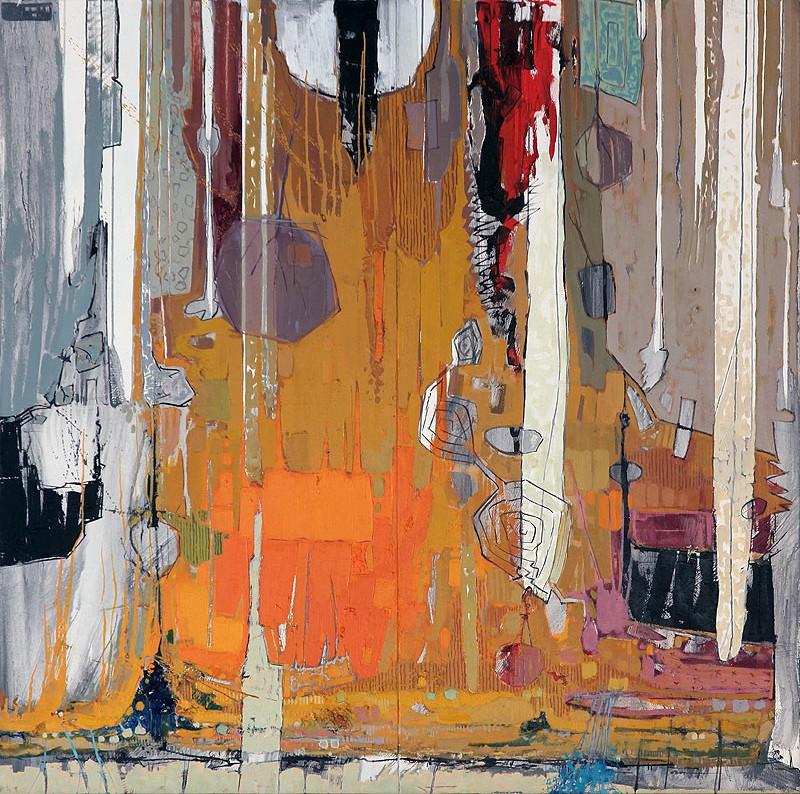 Antonio Utrera Quesada - Óleo sobre dos lienzos - 150x150 cm