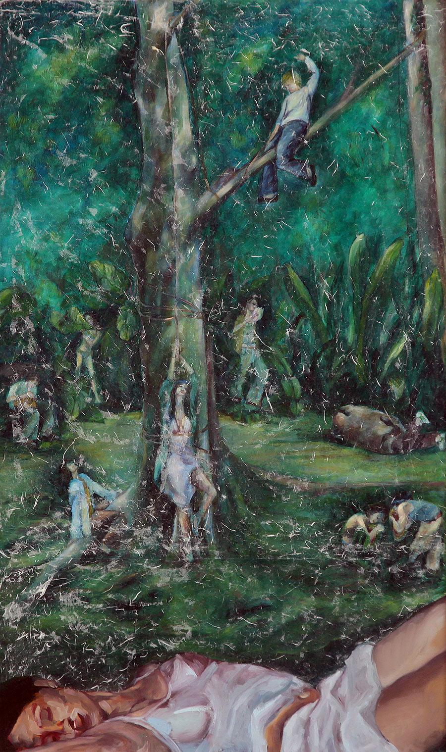 María del Pilar Benavides Muñoz - Óleo sobre lienzo - 150x90 cm