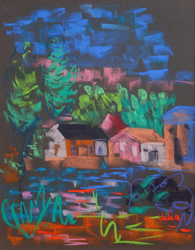 Julia Gorjón Hernández - Pastel sobre tela - 65x50 cm