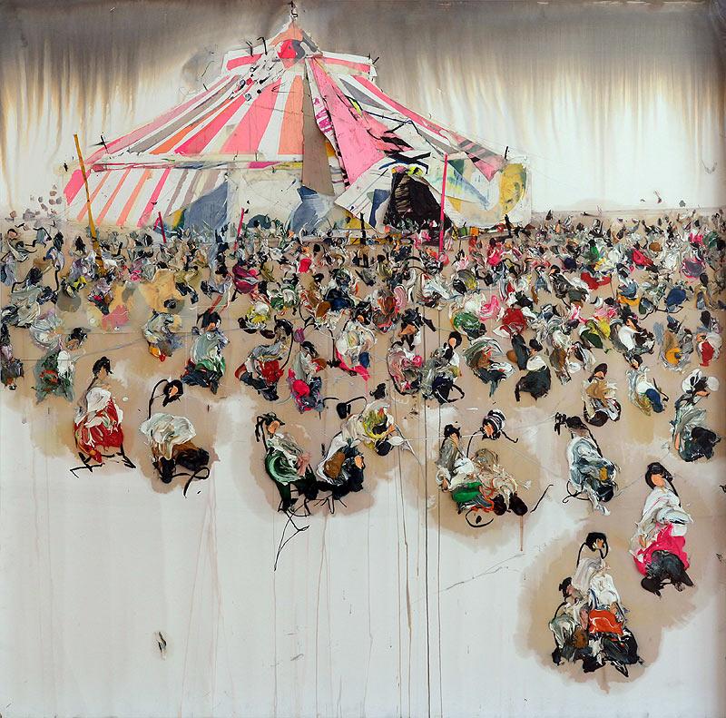 Ismael Lagares Díaz - Óleo - 140x140 cm