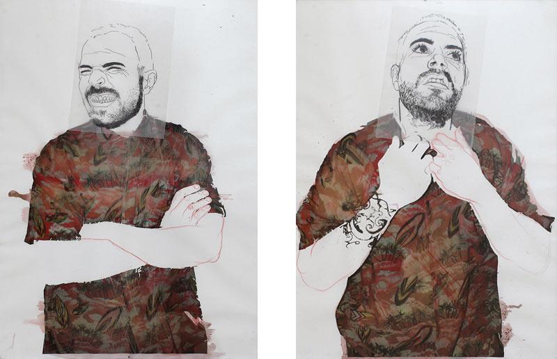 Laura Medina Solera - Mixta sobre papel - 140x100 cm