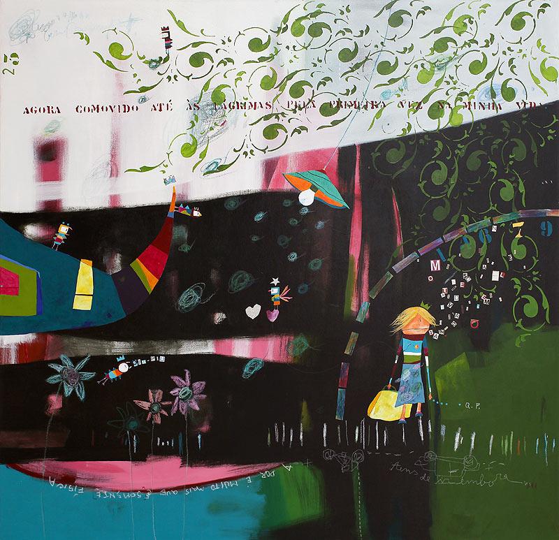Rui Manuel Gomes Pereira - Mixta sobre tela - 150x150 cm