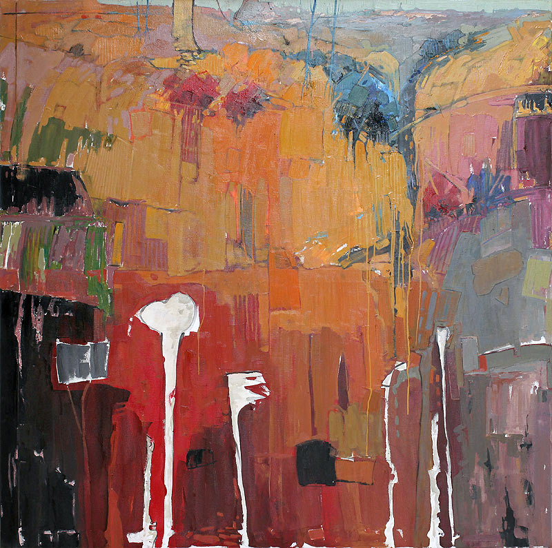 Antonio Utrera Quesada - Óleo sobre lienzo - 150x150 cm