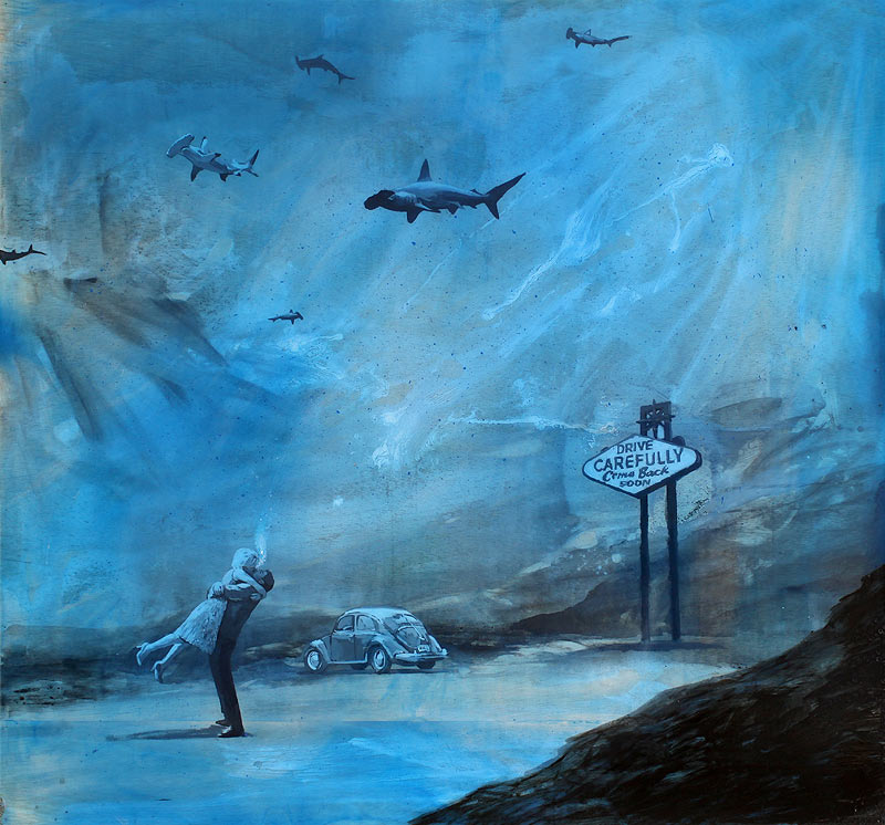 Jorge Hernández García - Acrílico, óleo y resina sobre tela - 150x140 cm