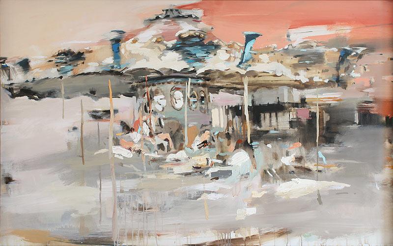 José Bonaños Márquez - Técnica mixta sobre tela - 105x150 cm