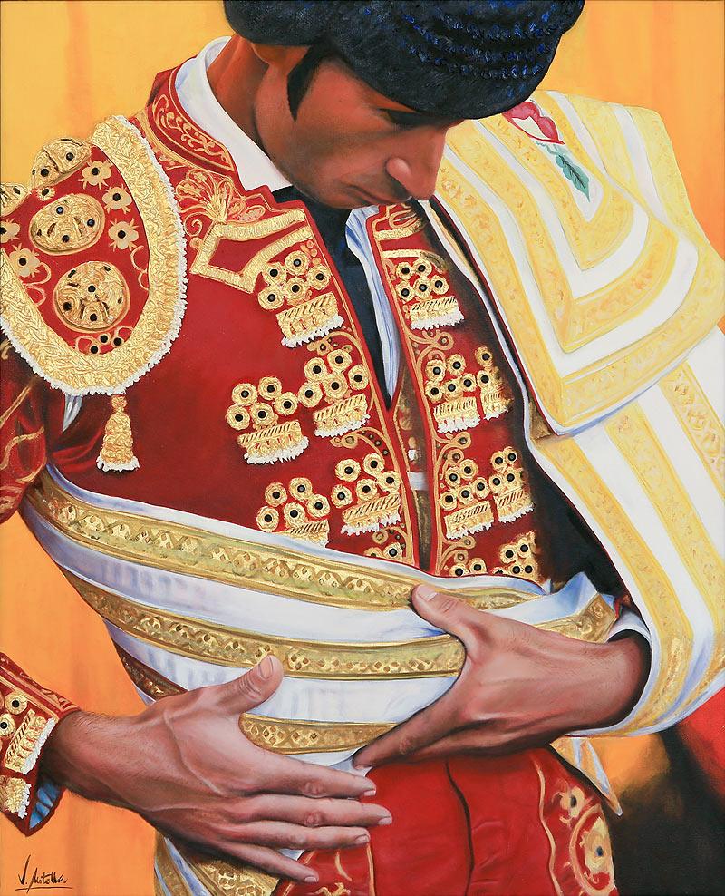 Victor Manuel Martín Motellón - Óleo y oro sobre lienzo - 100x80 cm