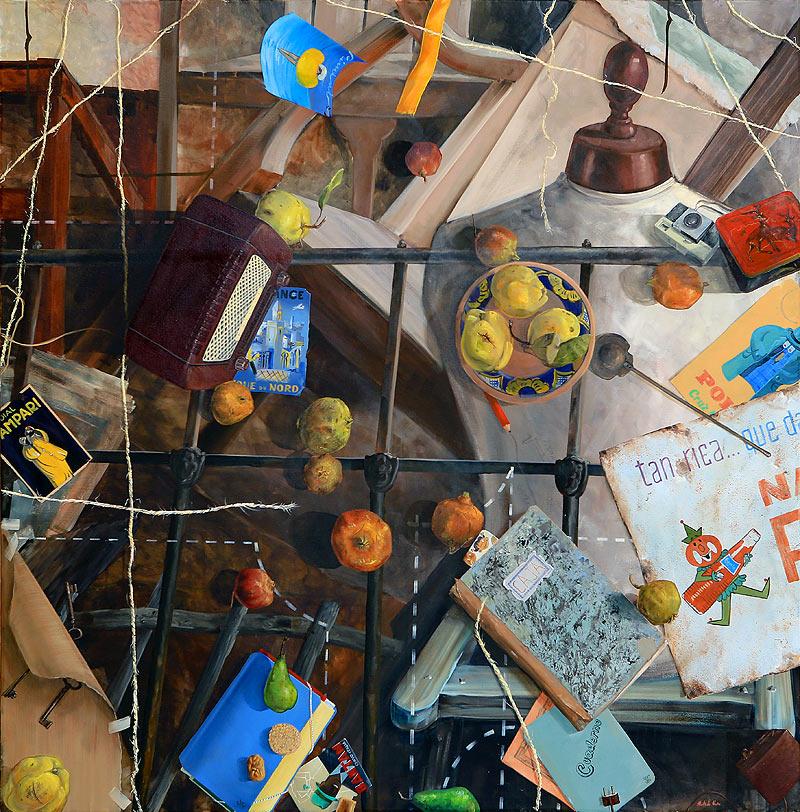 Emilio J. Hurtado Nuño - Mixta sobre lienzo - 150x150 cm