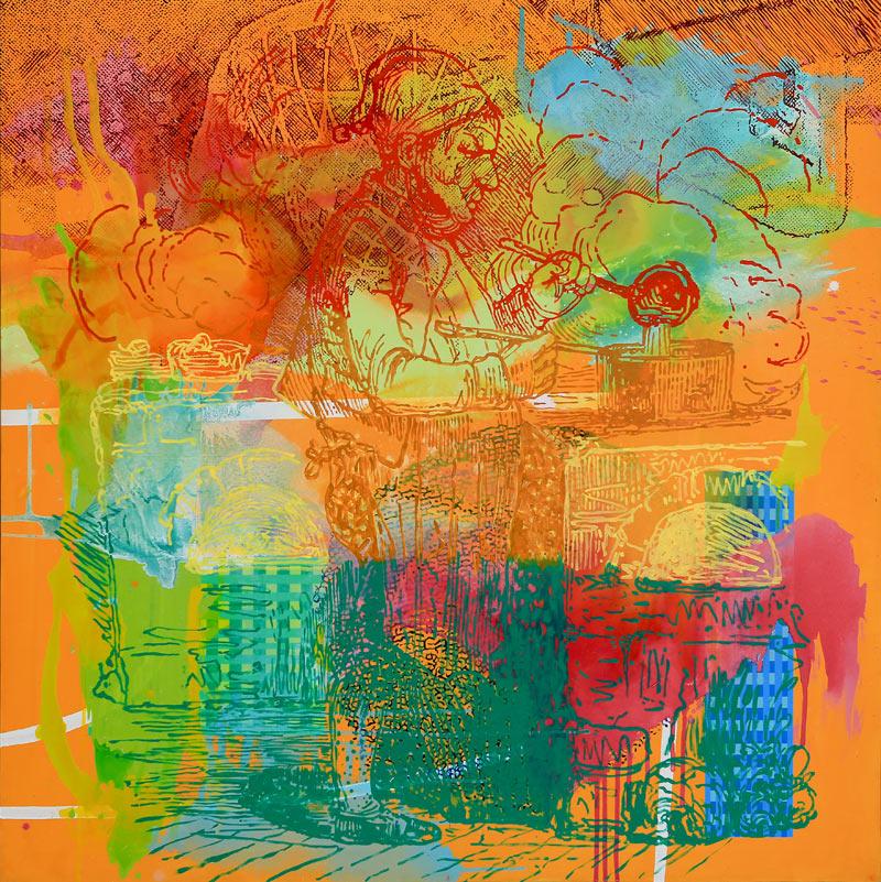 Jesús Pizarro Cañamero - Acrílico sobre lienzo - 150x150 cm