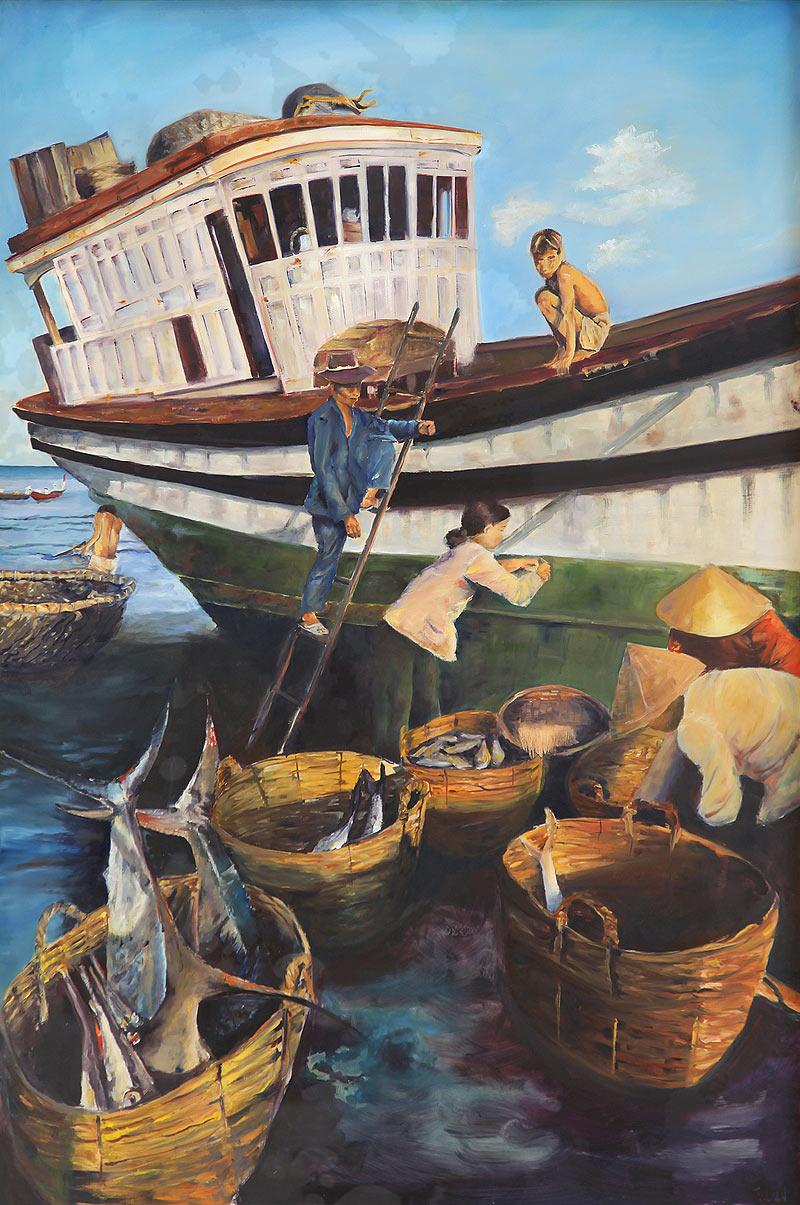 Mª Alicia González Talaván - Óleo sobre lienzo - 146x97 cm