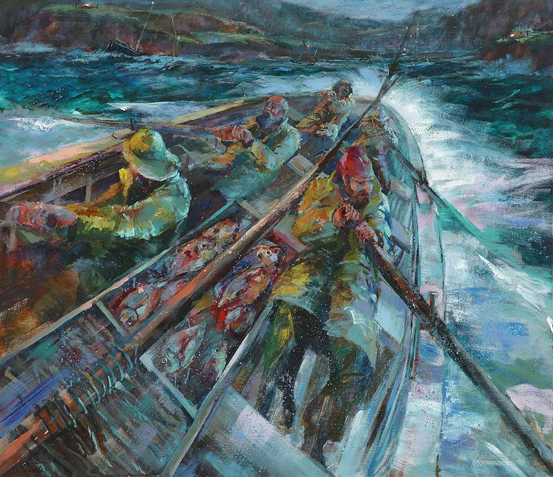 Luis Alfonso Gutiérrez Tudela - Acrílico sobre okumen tratado - 140x122 cm