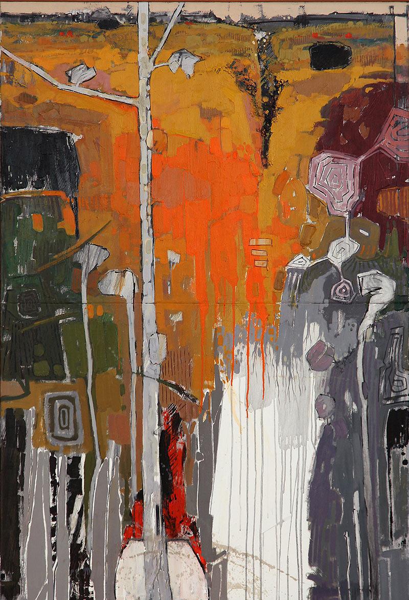 Antonio Utrera Quesada - Óleo sobre dos lienzos - 46x100 cm