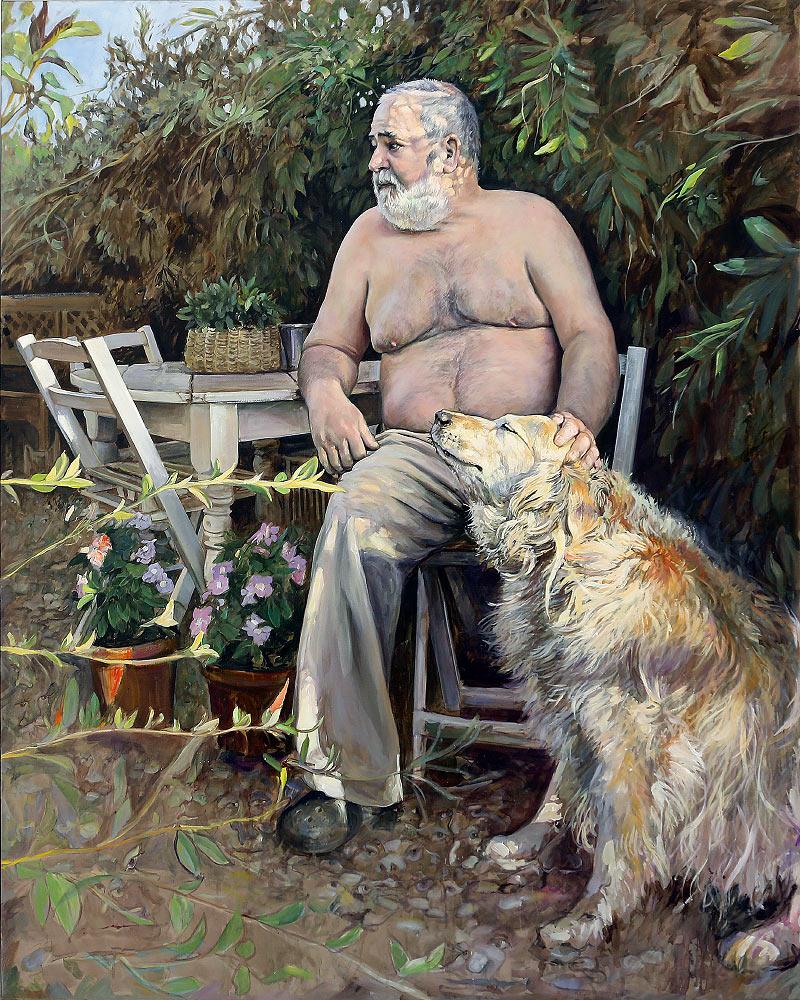 Félix y su perra Neska