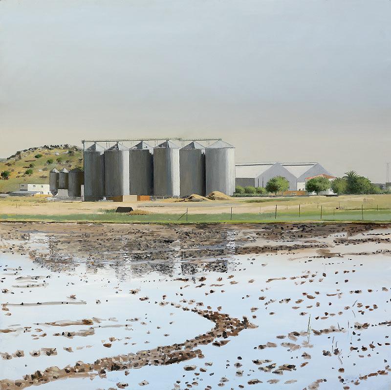 Lagunas y secaderos de arroz