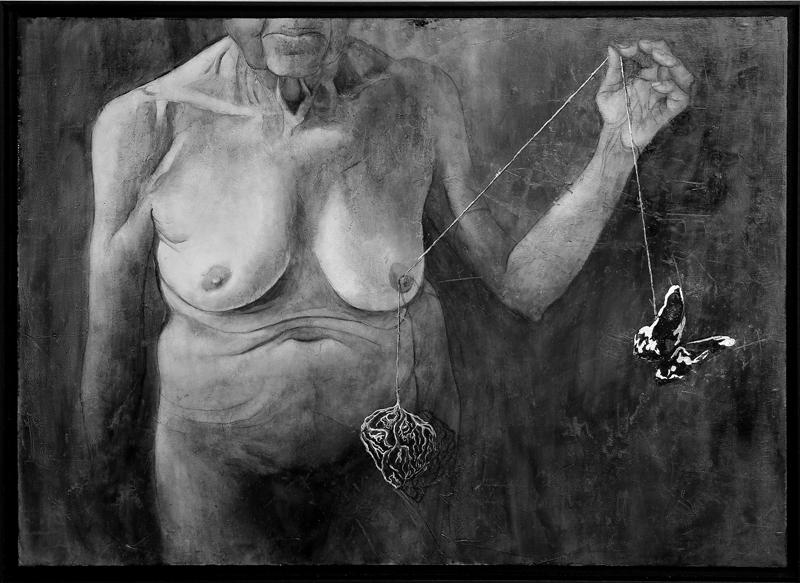 sonia Rubio Pascual - Óleo y pan de plata sobre tela 87 x 65 cm