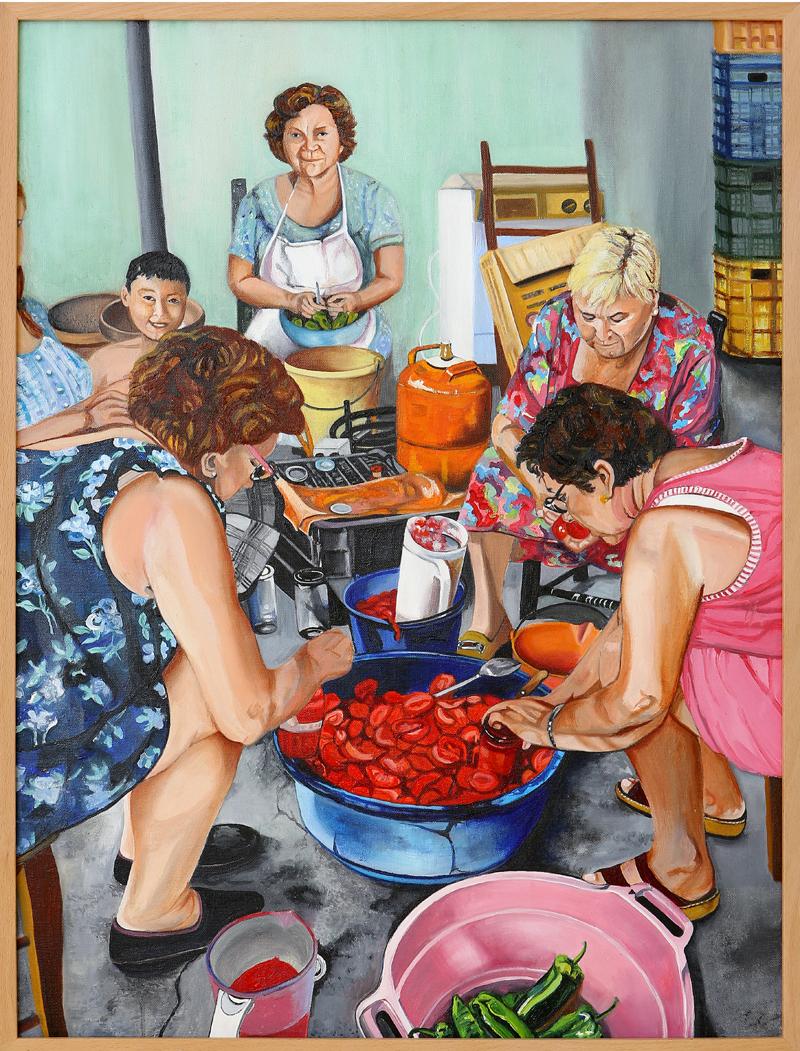 Rosario Rubio Valdivia - Óleo sobre lienzo 80 x 60 cm