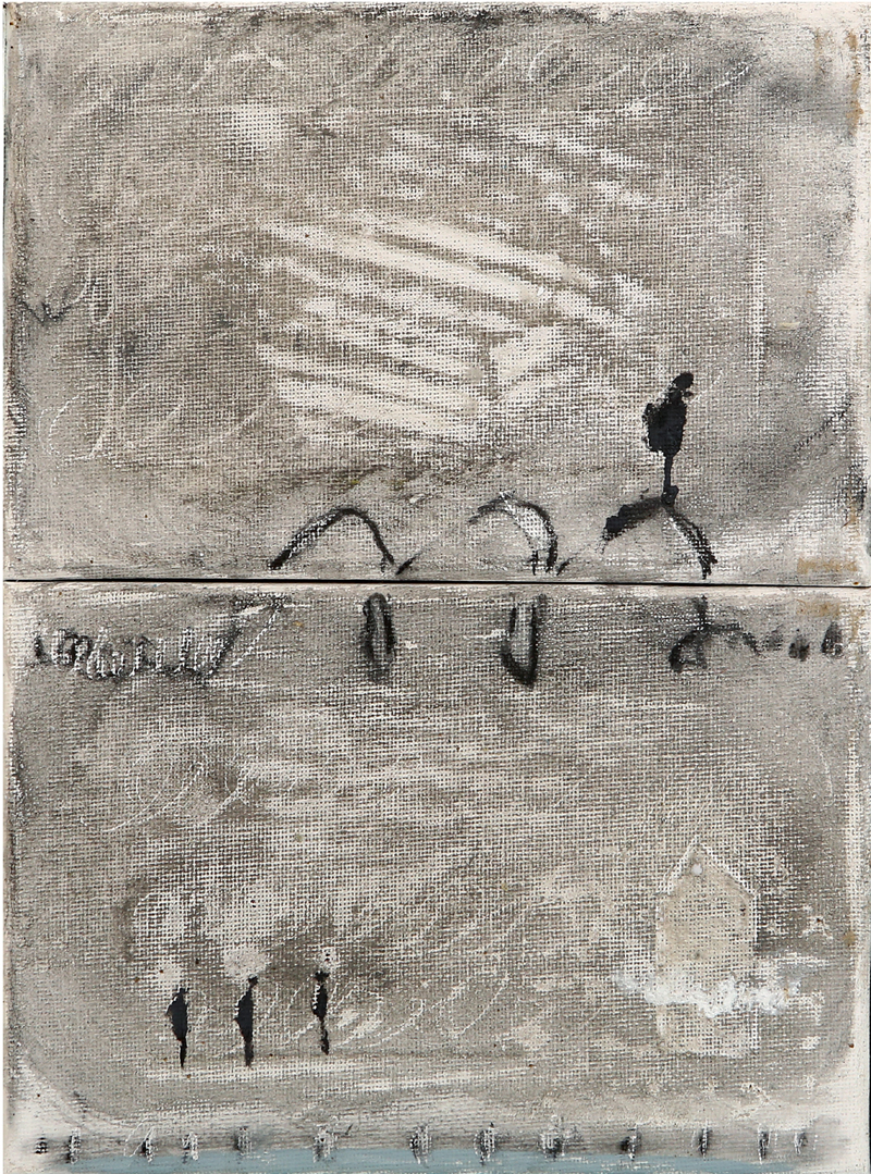 Marta Belivé Moreno - acrílico y carbón sobre tela 18 x 24 cm
