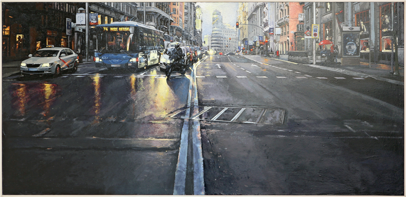 Raúl Gil Rodríguez - Óleo sobre tabla 150 x 75 cm