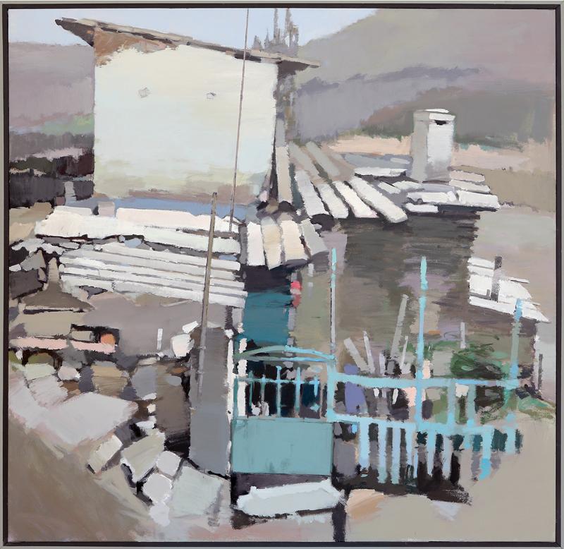 Francisco Martín Barea - Mixta sobre lienzo 130 x 130 cm