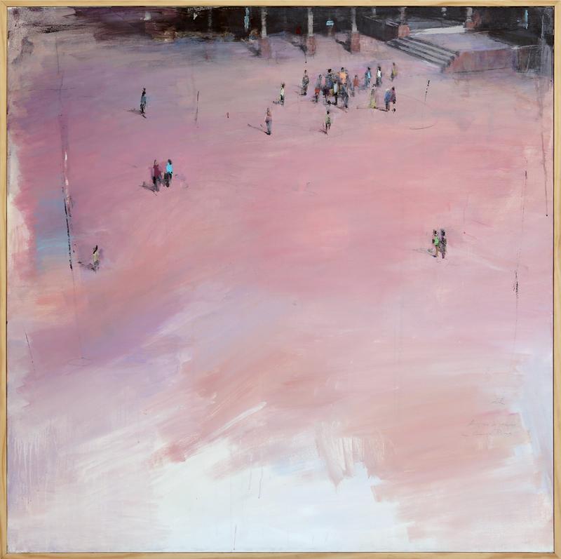 Miguel Ángel Bastante recuerda - Acrílico sobre lienzo 150 x 150 cm