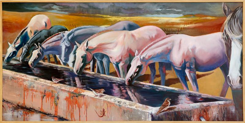 Adoración Fernández Merino - Óleo sobre tela 150 x 77 cm