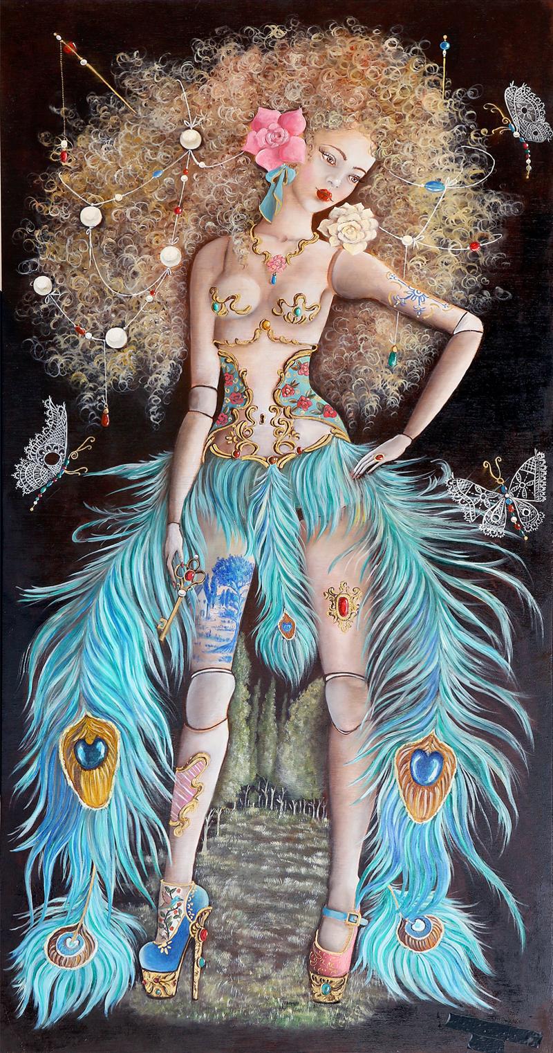 Ana Hernández San Pedro - Óleo sobre tabla 120 x 60 cm