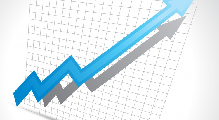 vector business arrow showing growth progress