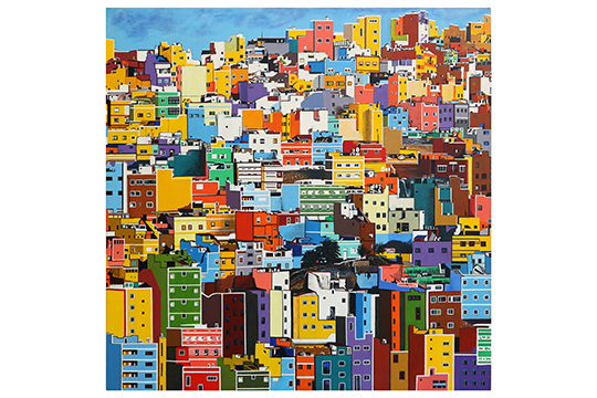Evelí Adam Orriols - Acrílico sobre tabla - 95 x 95 cm