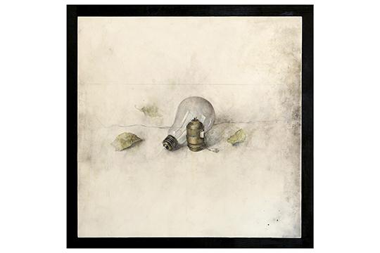 Gen Isoe - Grafito y acuarela - 41 x 41 cm