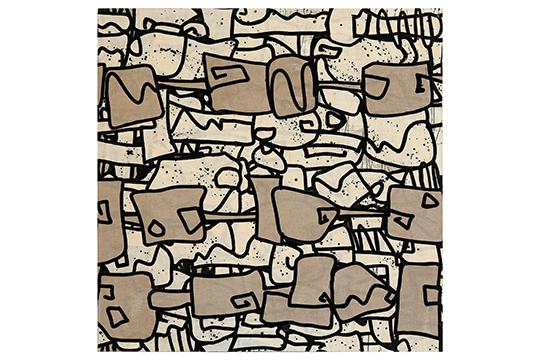 Anna Gálvez Sala - Collage, acrílico sobre tela - 150 x 150cm